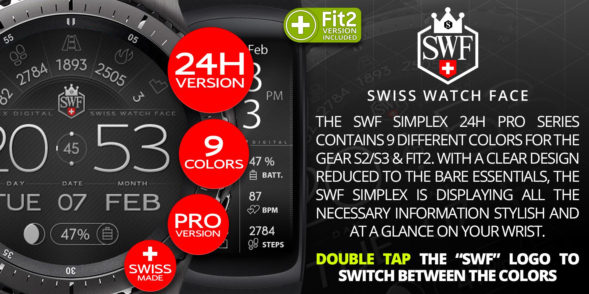 Simplex Series - Watch Face | SWF Swiss Watch Face